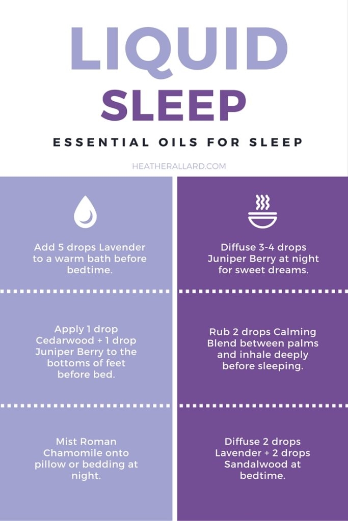 Can't sleep? Here are 5 essential oils you can use to catch some zzz's. https://heatherallard.com/liquid-sleep-essential-oils-to-use/